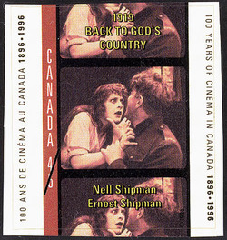 Back to God's Country, 1919, Nell Shipman, Ernest Shipman Canada Postage Stamp | 100 Years of Cinema in Canada, 1896-1996