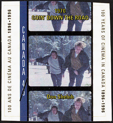 Goin' Down the Road, 1970, Don Shebib Canada Postage Stamp | 100 Years of Cinema in Canada, 1896-1996