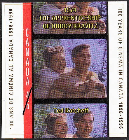 The Apprenticeship of Duddy Kravitz, 1974, Ted Kotcheff Canada Postage Stamp | 100 Years of Cinema in Canada, 1896-1996
