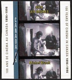Orders, 1974, Michel Brault Canada Postage Stamp | 100 Years of Cinema in Canada, 1896-1996