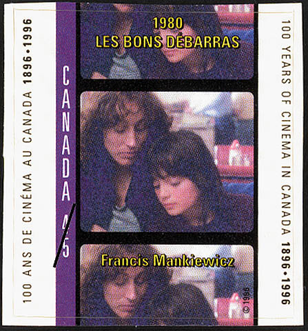 Good Riddance, 1980, Francis Mankiewicz Canada Postage Stamp | 100 Years of Cinema in Canada, 1896-1996