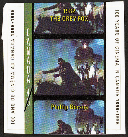 The Grey Fox, 1982, Phillip Borsos Canada Postage Stamp | 100 Years of Cinema in Canada, 1896-1996