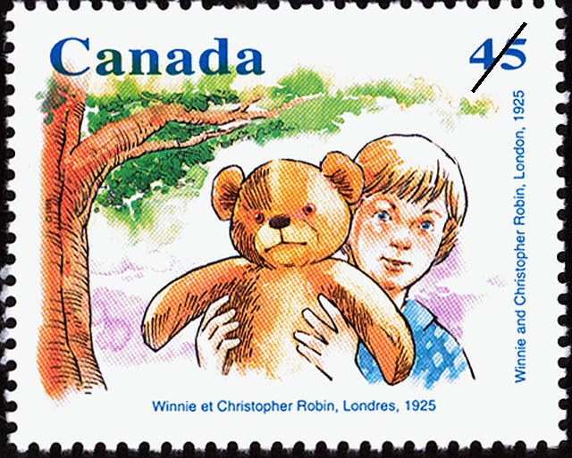 Winnie and Christopher Robin, London, 1925 Canada Postage Stamp | Winnie the Pooh