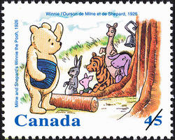 Milne and Shepard's Winnie the Pooh, 1926 Canada Postage Stamp | Winnie the Pooh