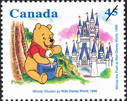 Winnie the Pooh at Walt Disney World, 1996 Canada Postage Stamp | Winnie the Pooh