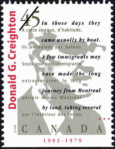 Donald Grant Creighton, 1902-1979 Canada Postage Stamp | Authors