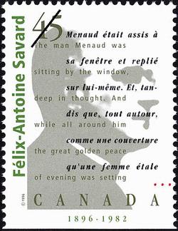 Felix-Antoine Savard, 1896-1982 Canada Postage Stamp