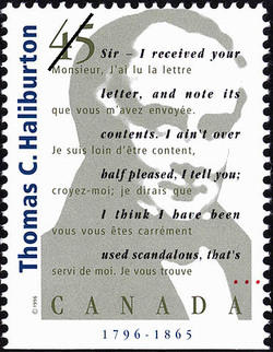 Thomas Chandler Haliburton, 1796-1865 Canada Postage Stamp | Authors
