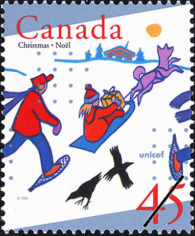 Christmas in the Yukon Territory Canada Postage Stamp   Christmas, UNICEF