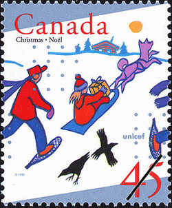 Christmas in the Yukon Territory Canada Postage Stamp
