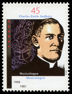 Charles-Emile Gadbois, Musicologist, 1906-1981 Canada Postage Stamp