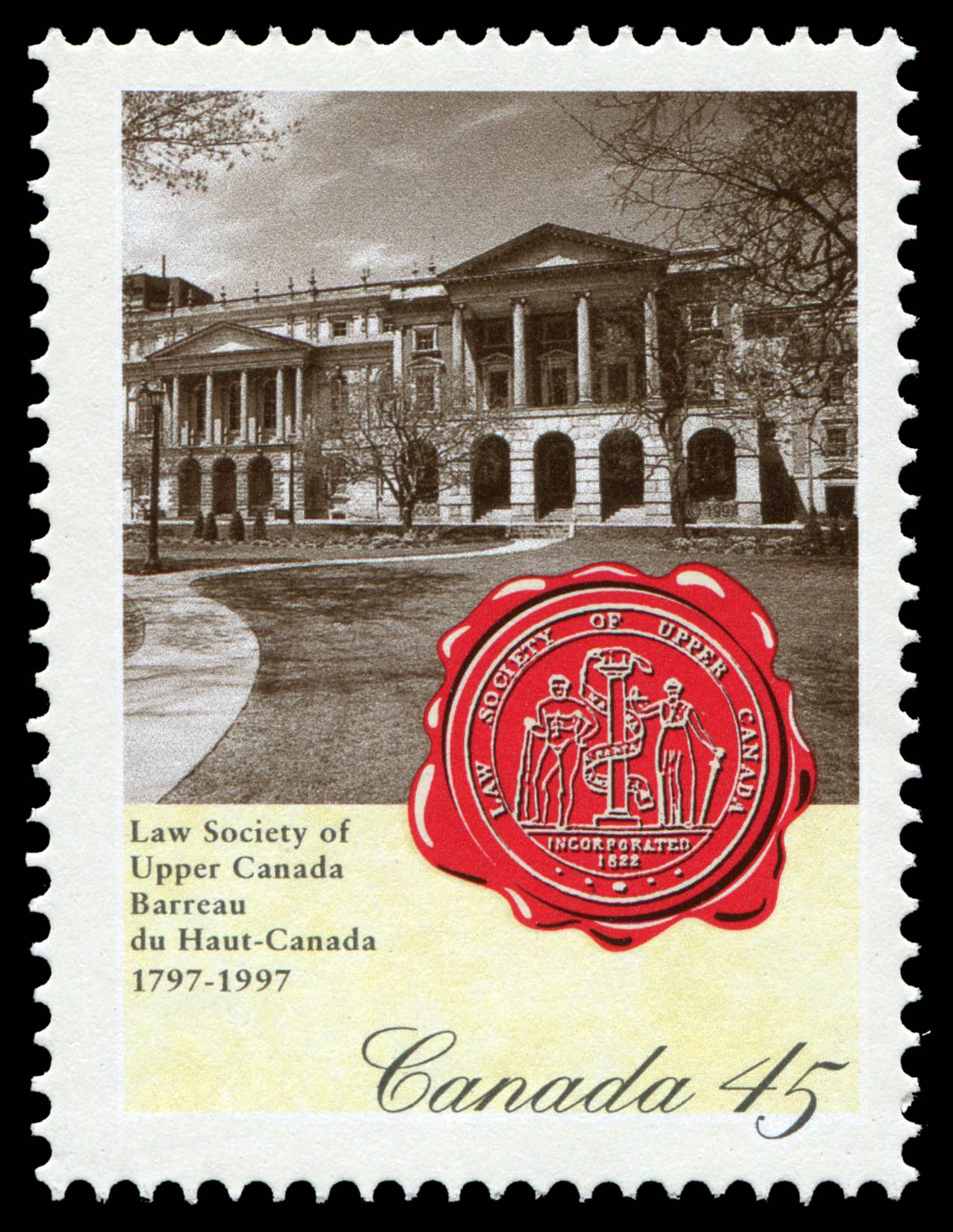 Law Society of Upper Canada, 1797-1997 Canada Postage Stamp