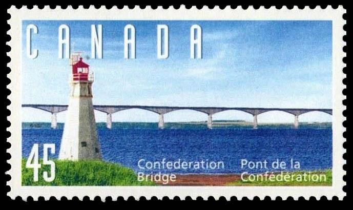 Confederation Bridge - Lighthouse Canada Postage Stamp | Confederation Bridge