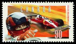 Gilles Villeneuve | Ferrari T-3, 1978 Canada Postage Stamp | Gilles Villeneuve