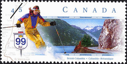 Route 99, British Columbia Canada Postage Stamp | Scenic Highways