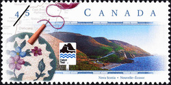 Cabot Trail, Nova Scotia Canada Postage Stamp | Scenic Highways