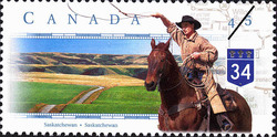 Highway 34, Saskatchewan Canada Postage Stamp | Scenic Highways