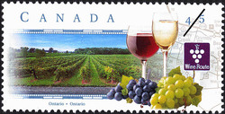 Wine Route, Ontario Canada Postage Stamp | Scenic Highways