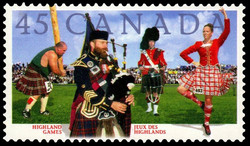 Highland Games Canada Postage Stamp