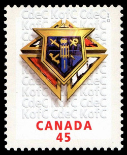 Knights of Columbus Canada Postage Stamp