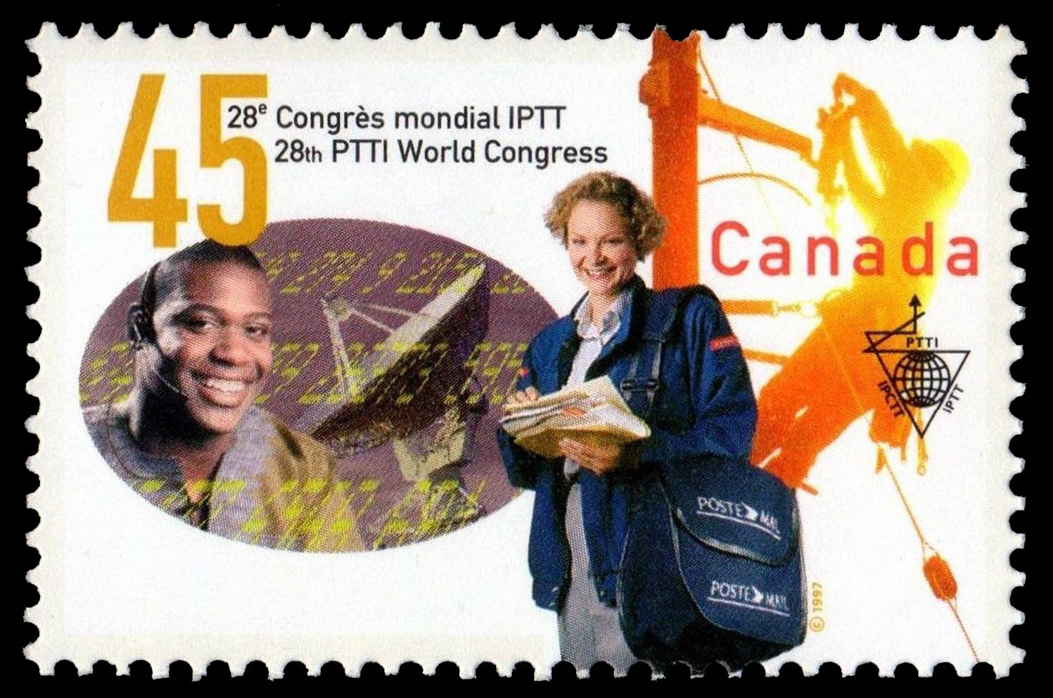28th Postal, Telegraph and Telephone International World Congress Canada Postage Stamp