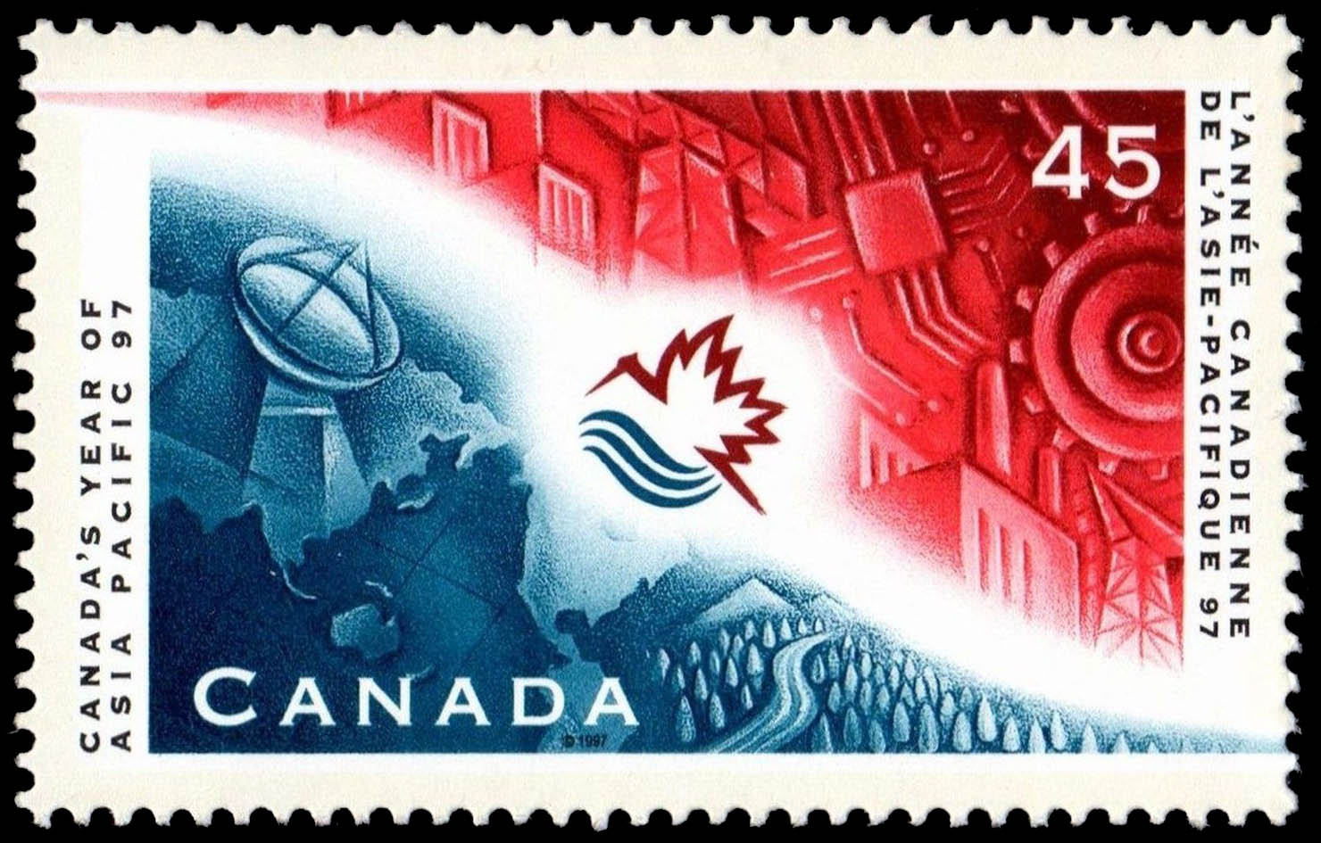 Canada's Year of Asia Pacific 97 Canada Postage Stamp