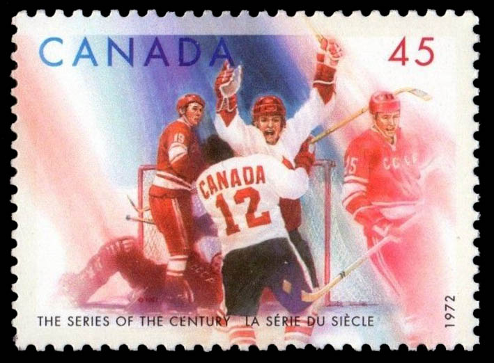 Paul Henderson and Yvan Cournoyer Canada Postage Stamp