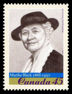Martha (Munger) Black, 1866-1957 Canada Postage Stamp | Prominent Canadians