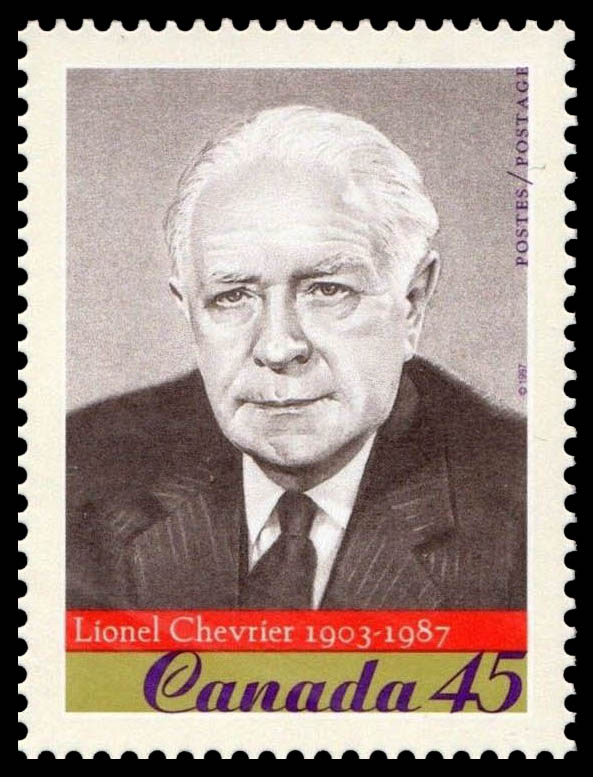 Lionel Chevrier, 1903-1987 Canada Postage Stamp | Prominent Canadians