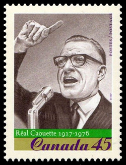 Real Caouette, 1917-1976 Canada Postage Stamp | Prominent Canadians
