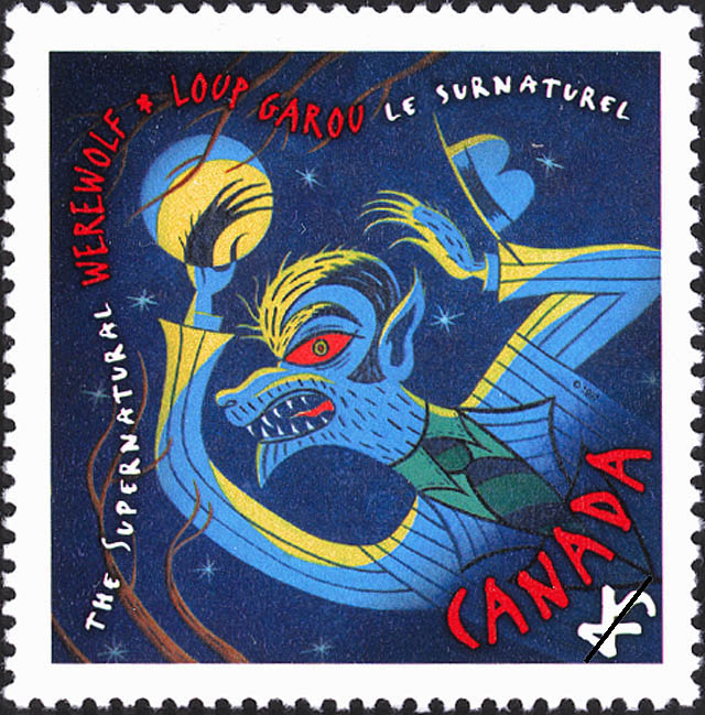 Werewolf Canada Postage Stamp | The Supernatural