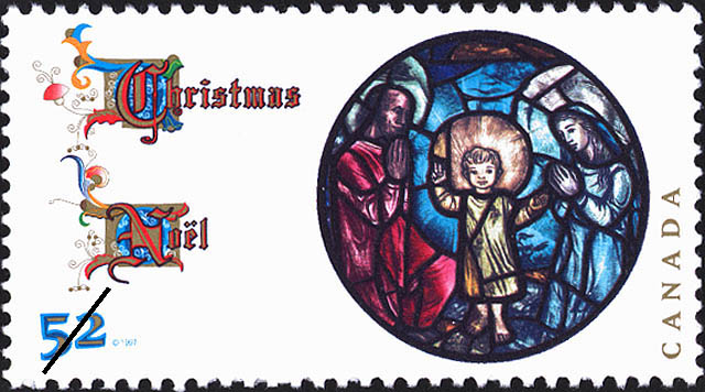 """Nativity Scene"" by Ellen Simon Canada Postage Stamp 
