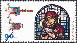 """Scene from the Life of the Blessed Virgin"" by Christopher Wallis Canada Postage Stamp 