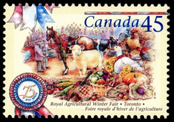 Royal Agricultural Winter Fair, Toronto, 75 Years Canada Postage Stamp