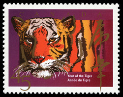 Year of the Tiger Canada Postage Stamp | Chinese New Year