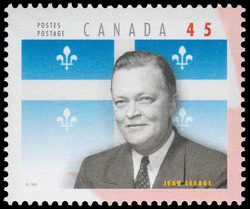 Jean Lesage Canada Postage Stamp | Premiers of the Canadian Provinces