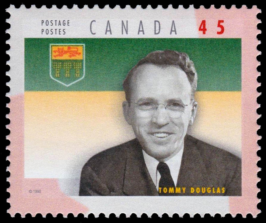Tommy Douglas Canada Postage Stamp | Premiers of the Canadian Provinces