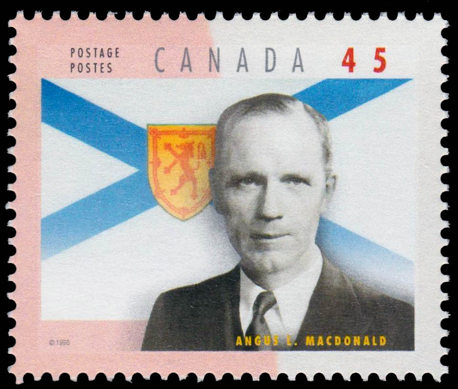 Angus Lewis Macdonald Canada Postage Stamp | Premiers of the Canadian Provinces