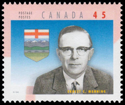 Ernest Charles Manning Canada Postage Stamp | Premiers of the Canadian Provinces
