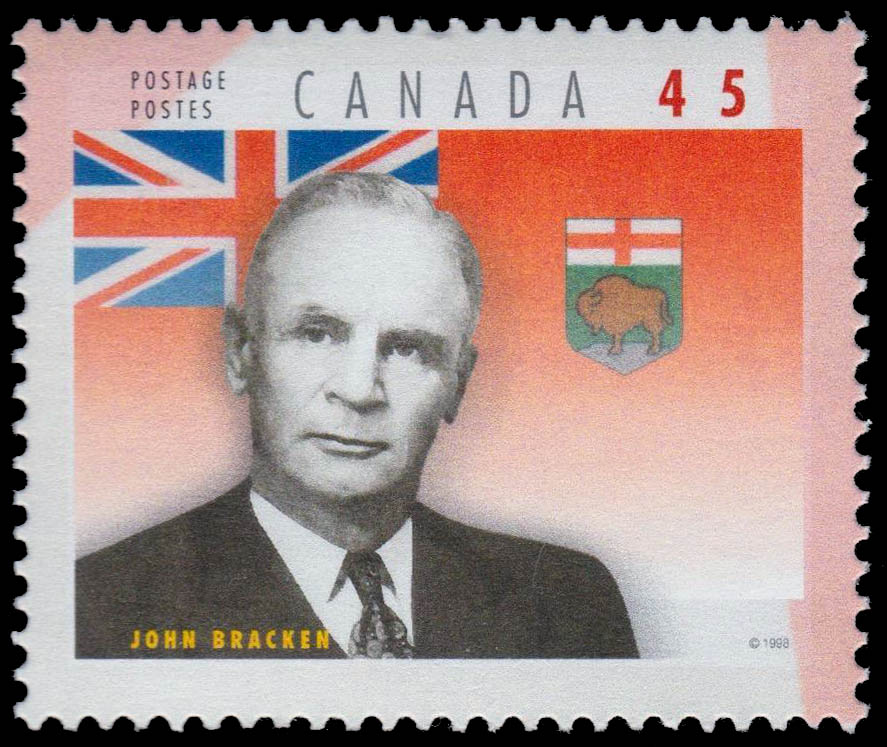 John Bracken Canada Postage Stamp | Premiers of the Canadian Provinces