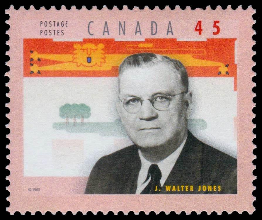 "John Walter ""Farmer"" Jones Canada Postage Stamp | Premiers of the Canadian Provinces"