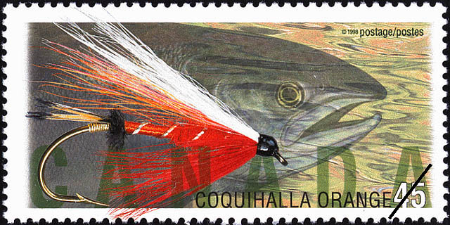 Coquihalla Orange Canada Postage Stamp | Fishing Flies