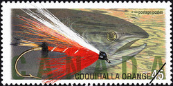 Coquihalla Orange Canada Postage Stamp | Fishing Flies