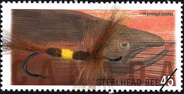 Steelhead (BC) Bee Canada Postage Stamp | Fishing Flies