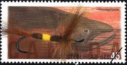 Steelhead (BC) Bee Canada Postage Stamp | Fishing Flies