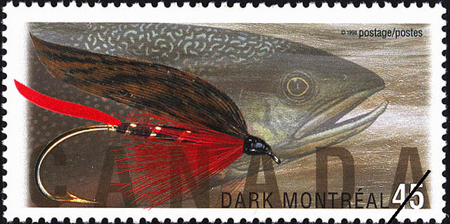 Dark Montreal Canada Postage Stamp | Fishing Flies