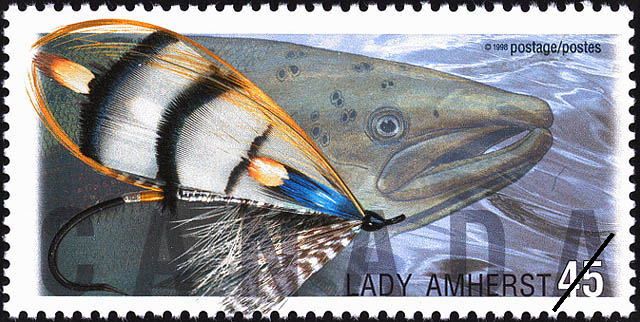 Lady Amherst Canada Postage Stamp | Fishing Flies