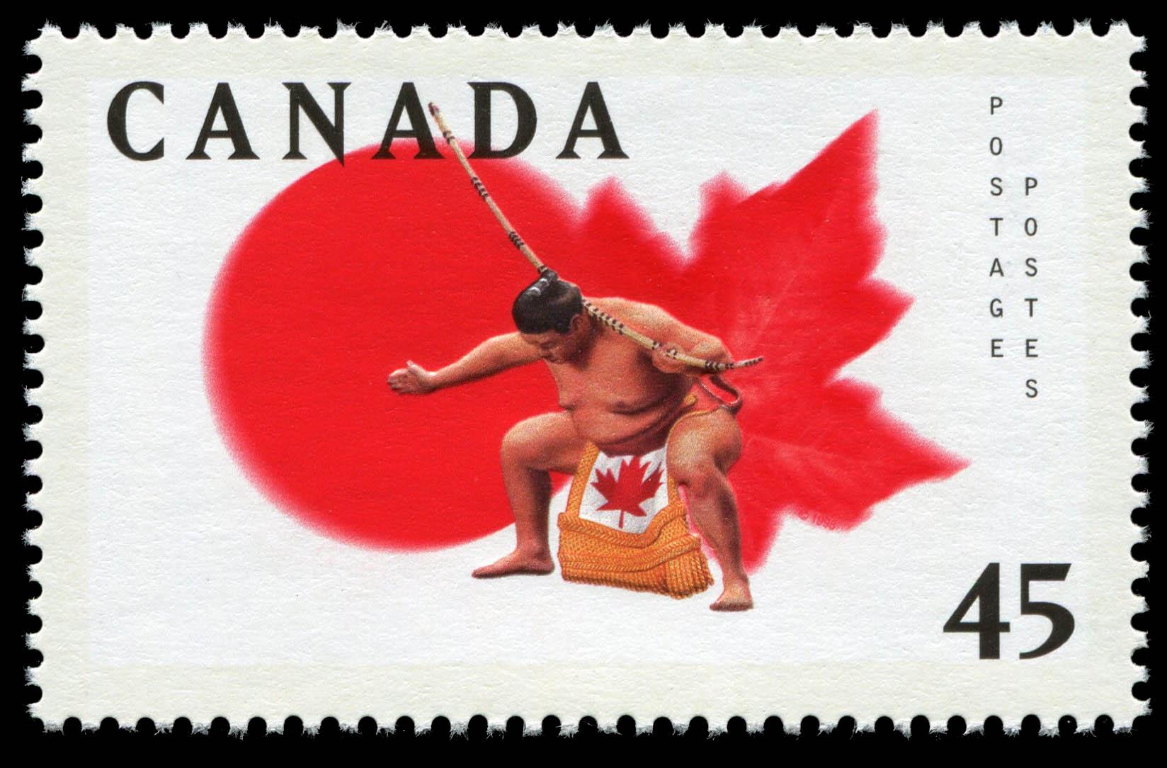 Sumo Wrestling Ceremony Canada Postage Stamp
