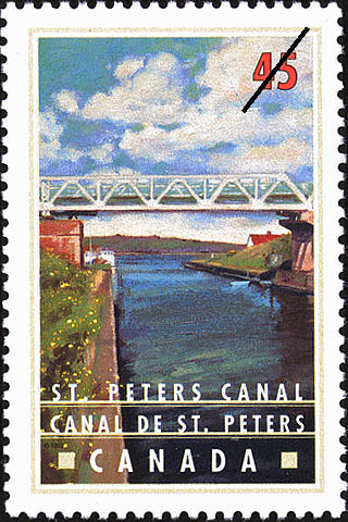 St. Peters Canal Canada Postage Stamp