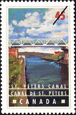 St. Peters Canal Canada Postage Stamp | Canals, Recreational destinations